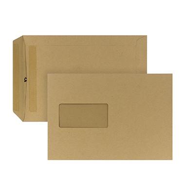 Versandtaschen B5 mit Fenster selbstklebend 90g braun