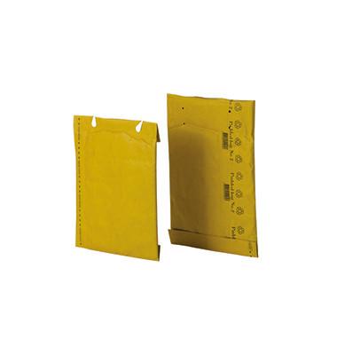 Papierpolstertaschen Nr. 2, 00012004, innen 200x250mm, Lochung für Klammer, braun