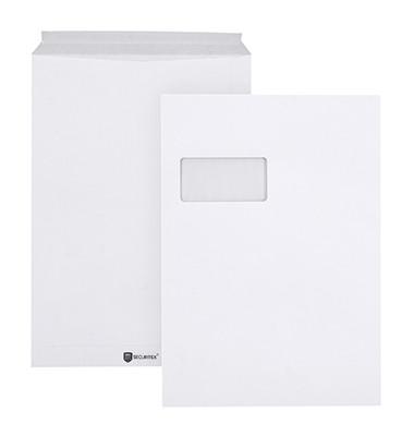 Versandtaschen Securitex Expander C4 mit Fenster haftklebend 130g weiß