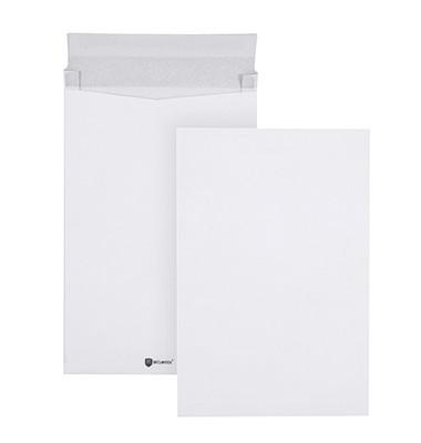 Faltentaschen Securitex Expander B4 ohne Fenster 38mm Falte haftklebend 130g weiß