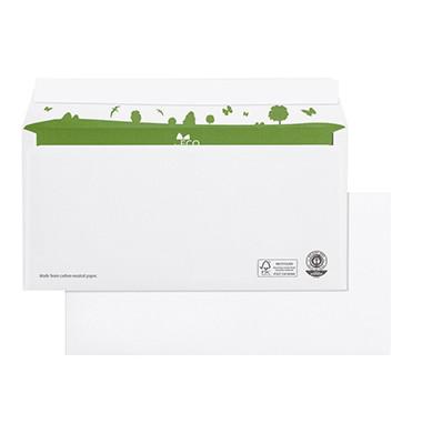 Briefumschläge Din Lang ohne Fenster haftklebend 80g weiß