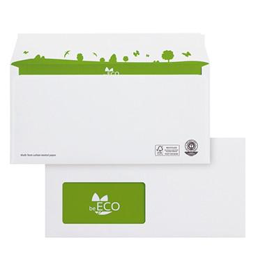 Briefumschläge Din Lang mit Fenster haftklebend 80g weiß