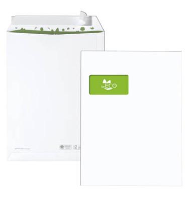Versandtaschen C4 mit Fenster haftklebend 100g weiß