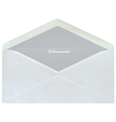 Briefumschläge 1343 Din Lang ohne Fenster nassklebend 80g weiß 25 Stück
