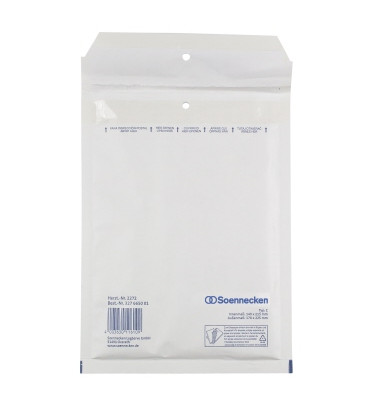 Luftpolstertaschen C/0, 2272, innen 140x215mm, haftklebend, weiß