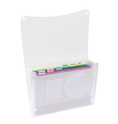 Fächermappe 370682400 A4 mit 7 Fächern 7-teilig blanko Kunststoff transparent/bunt
