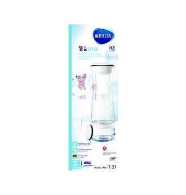 Karaffe Fill & Serve Mind inkl. Filter 1,3Liter weiß/graphit Kunststoff