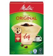 Kaffeefiltertüte Typ 1x4 206810 naturbraun 80 St./Pack.