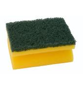 Schwamm 7x9,5x4cm Griffleiste gelb/grün