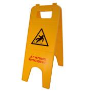 """Warnschild """"Achtung Rutschgefahr"""" gelb 57cm"""