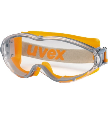 Schutzbrille ultrasonic 9302 245 HC-AF farblos orange/grau
