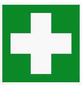 Hinweisschild Hart-PVC Erste Hilfe 150x150mm