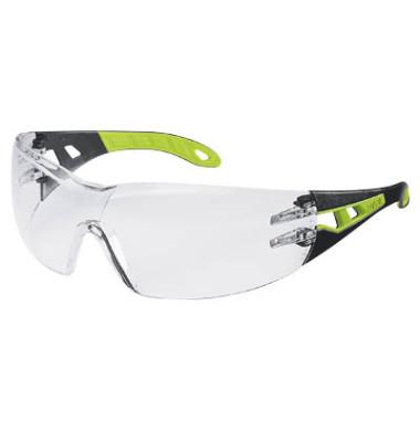 Schutzbrille pheos 9192 225 HC/AF farblos schwarz/grün