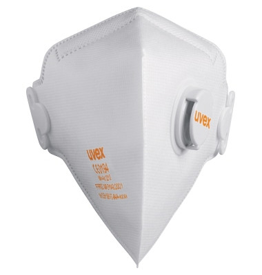 Atemschutzmaske Silv-Air FFP2 8733210 m.Ventil 15 St./Pack.