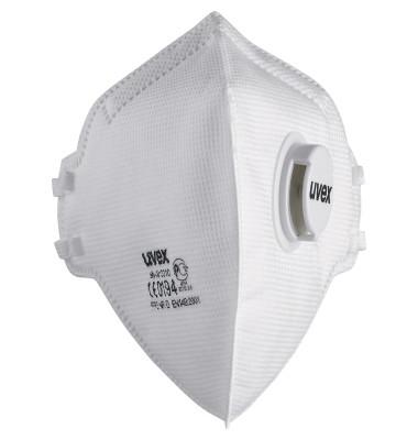 Atemschutzmaske Silv-Air FFP3 8733310 m.Ventil 15 St./Pack.