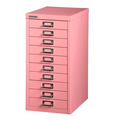 Schubladenschrank pink mit 10 Schubladen