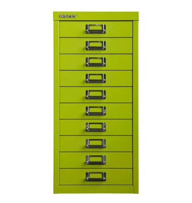 Schubladenschrank grün mit 10 Schubladen