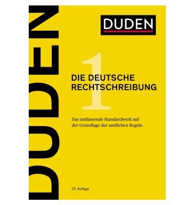 duden w rterbuch die deutsche rechtschreibung 27 auflage. Black Bedroom Furniture Sets. Home Design Ideas