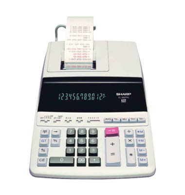 Tischrechner EL-2607PG-GYSE 12Zeichen Netz weiß