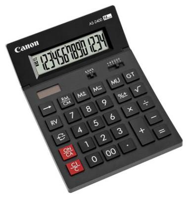 Tischrechner AS-2400 4585B001AB Solar/Batterie