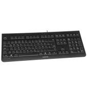 PC-Tastatur KC 1000 JK-0800DE-2, mit Kabel (USB), leise, Sondertasten, schwarz