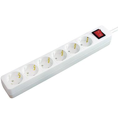Steckdosenleiste 1550620416 6fach weiß