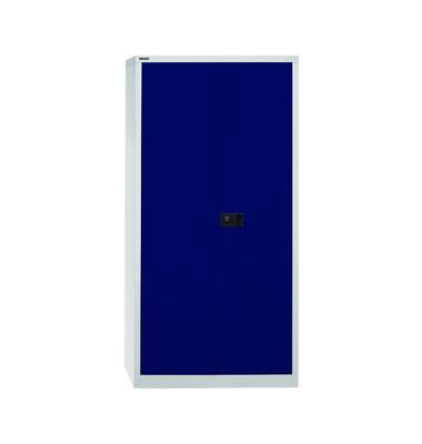 Flügeltürenschrank Universal E782AAG505 Garderobe lichtgrau/blau