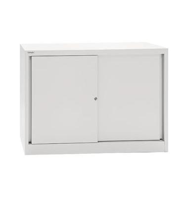 Bisley Aktenschrank Eco Sd412081s645 Stahl Abschliessbar 2 Oh 120 X 83 9 X 43 Cm Lichtgrau Burobedarf Thuringen