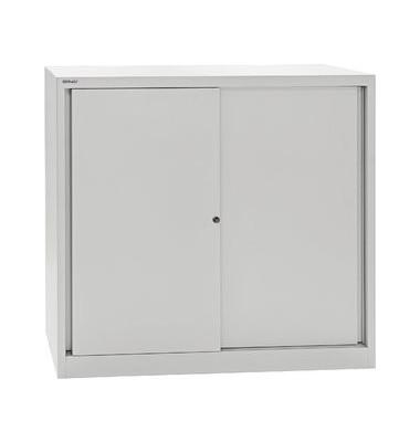 Aktenschrank ECO SD412112S645, Stahl abschließbar, 3 OH, 120 x 118,1 x 43 cm, lichtgrau