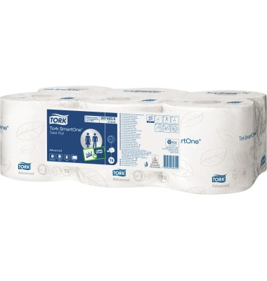 Toilettenpapier SmartOne 472242 T8 2-lagig 6 Rollen