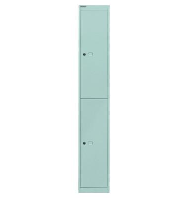 Spind, Metall, 1 Abteil mit 2 Fächern, abschließbar, 30,5x180,2cm (BxH), lichtgrau