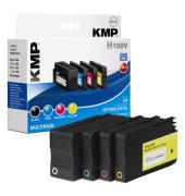 Tintenpatrone HP 950XL, 951XL H100V ca. 2.300 Seiten schwarz, ca. 3 x 1.500 Seiten farbig schwarz, mehrfarbig 4 St./Pack.