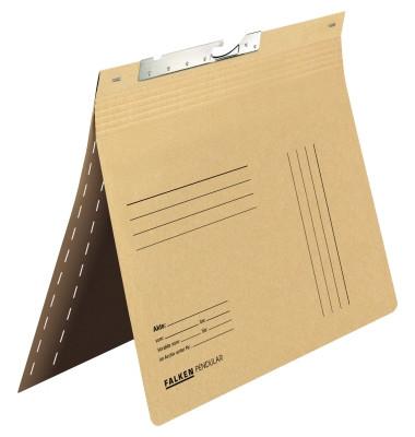 Pendelhefter DIN A4 320g/m² kaufmännische Heftung mit Organisationsaufdruck Manilakarton, recycelt chamois