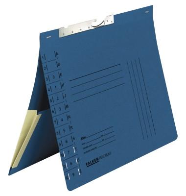 Pendelhefter 15033 A4 320g Karton blau Amtsheftung mit Tasche