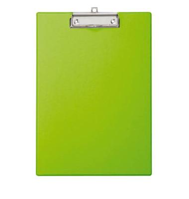 Klemmbrett 22,9 x 31,9 cm (B x H) DIN A4 Karton, kunststoffummantelt Material der Kaschierung außen: Folie hellgrün
