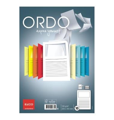 Sichtmappe Ordo classico DIN A4 120g/m² Papier weiß 10 St./Pack.