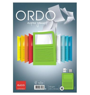Sichtmappe Ordo classico DIN A4 120g/m² Papier intensivgrün 10 St./Pack.