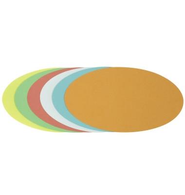 Moderationskarten Ovale 11x19cm farbig sortiert 250 Stück
