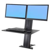 WorkFit-SR Dual schwarz höhenverstellbarer Arbeitsplatz 33-407