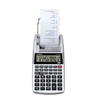 Tischrechner P1-DTSC violett 102 x 48 x 203 mm (B x H x T) Batterie, Netzbetrieb silber metallic