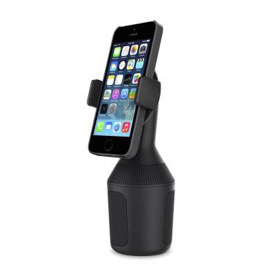 Kfz Halterung Smartphones 8,4 cm Breite 16 x 7 x 7 cm (B x H x T) zur Befestigung an: Getränkehalter schwarz