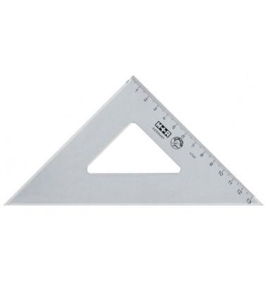 Winkel Recht 45° 25cm rauchgr