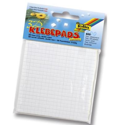 Klebepads 800ST weiß 5x5mm doppelseitig