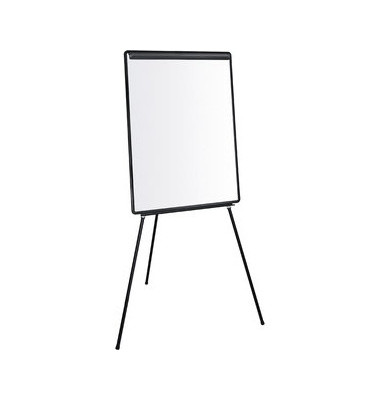Flipchart 66 x 101 cm schwarz auf Dreibeinstativ