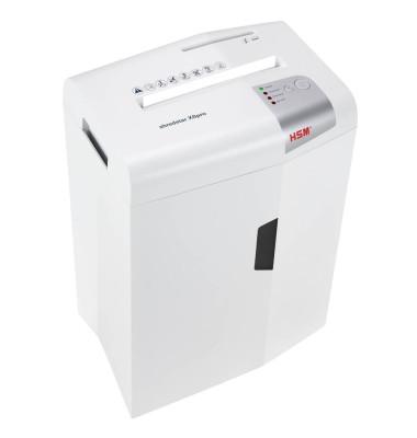 Aktenvernichter shredstar X6pro P-5, O-1, T-2, E-2, F-2 Partikelschnitt weiß
