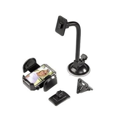 Univ.-Multihalter f.Handy/PDA schwarz 4-11cm breit