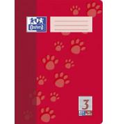 Schulheft 3. Schuljahr A4 Lineatur 3R liniert mit Rand weiß 16 Blatt