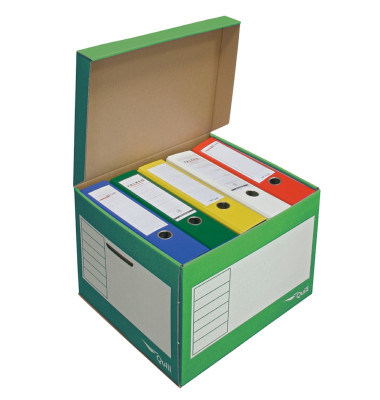 Archivbox, 43l, Wellp., Klappdeckel, 41x35x30cm, i: 39x33x29cm, grün