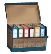 Archivbox 270 für 6x Ordner braun 525x310x335mm mit Klappe 10 Stück