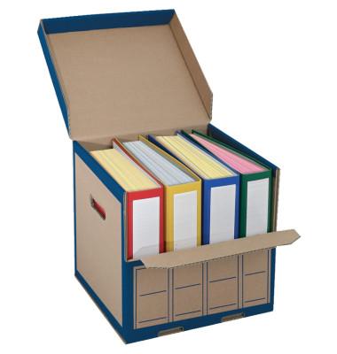 Archivbox 2704 für 4x Ordner braun 310x310x335mm mit Klappe 10 Stück